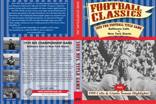 1959 NFL Championship Game Cover